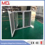 Окно Casement UPVC двойное стеклянное зеленое отраженное с сеткой москита
