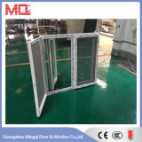 UPVC 모기 메시를 가진 두 배 유리제 녹색 반영된 여닫이 창 Windows