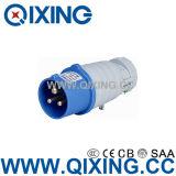 IP44 최고 가격 16A 3p 파란 산업 남성 플러그