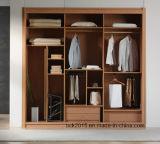 De hete Garderobe van de Schuifdeur van de Verkoop Hoge Glanzende met Vochtbestendige Particleboard