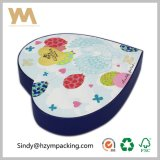 Rigid Paper Cardboard Heart Shape Embalagem Gift Box for Cosmetic