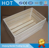 Caixa personalizada do armazenamento da madeira contínua