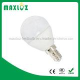 Lúmen elevado da iluminação 3W 4W 5W do bulbo do diodo emissor de luz do globo E14