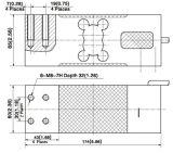 De de enige Wegende Sensor van het Aluminium van het Punt en Cel van de Lading voor Elektrische het Wegen Schalen (B723)