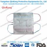Nicht gesponnene betätigte Kohlenstoff-chirurgische Gesichtsmasken und atmensorgfalt-Respirator Qk-FM004