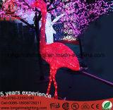 Luz decorativa do flamingo do motivo do diodo emissor de luz do Natal para a iluminação ao ar livre