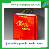 Bolsos de papel de empaquetado del regalo de los bolsos del bolso de la botella de vino del OEM