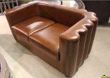 Sofá de couro clássico, Sofá de couro genuíno completo Yh-143