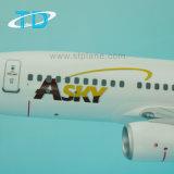 Avion de plastique d'échelle du model 1/100 de B737-700 Asky 34cm
