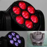 indicatore luminoso capo mobile del fascio della strumentazione LED della discoteca della fase 7X10W