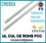 Alto tubo del lumen 20W T8 LED de la UL con la salvaguardia de batería