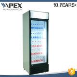 heiße einzelne Tür-aufrechte Bildschirmanzeige-Kühlvorrichtung des Verkaufs-360L mit Cer, CB, RoHS, Meps-Bescheinigung