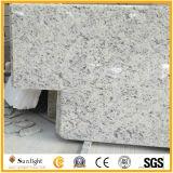 Partie supérieure du comptoir blanches de cuisine de granit de Brazillian Rose de granit préfabriqué