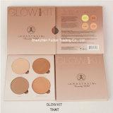 La cara del maquillaje del kit del resplandor de la anecdotario se ruboriza cosmético de la gama de colores del Blusher del polvo