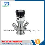 Válvula sanitaria del martillo de la muestra de Aspetic Ss304 Ss316L del acero inoxidable