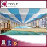 Película macia do teto do estiramento do PVC para a decoração da piscina