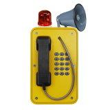 Teléfono industrial de la paginación, teléfono de la seguridad de la mina, teléfono del túnel con el claxon y altavoz