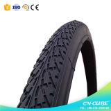 Pneus en caoutchouc de bicyclette de pneu noir de bonne qualité de vélo
