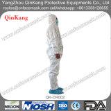PET nichtgewebter Gewebe-Labormantel mit mikroporöser Arbeits-Kleidung/Overall