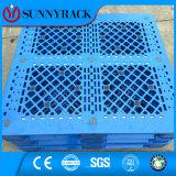 Tipo pálete reversível de WD do plástico do HDPE da carga pesada do lado do dobro da superfície do engranzamento