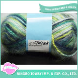 Fio de confeção de malhas acrílico do lenço do teste padrão do fio de poliéster melhor para o Crochet