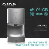 Dessiccateur automatique à grande vitesse électrique de main d'air de toilettes d'AK2630T de toilette commerciale de salle de bains