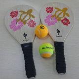 Raqueta de tenis de madera de la paleta de la playa de los deportes al aire libre