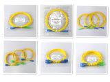 Cabo de correção de programa da fibra óptica do Sc-Sc Sx Dx a/Upc do cabo de correção de programa