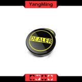 Желтая кнопка торговца покера Техас скульптуры для вспомогательного оборудования Ym-Dr03 пользы игр таблицы покера казина