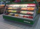 Tipo remoto comercial refrigerador do indicador da fruta e verdura