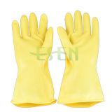 70g-85g de gele Industriële RubberHandschoenen van het Latex van het Werk van de Handschoen/van de Hand van het Latex Rubber Industriële