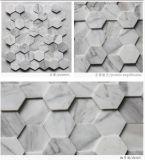 Mosaico di marmo bianco di figura di esagono di Volakas Carrara