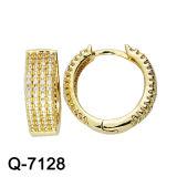 형식 보석 황금 도금된 금관 악기 보석 CZ 귀걸이