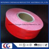 Tipo prismático micro adhesivo rojo claro material reflexivo del grado del diamante