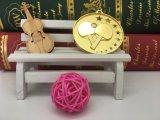 特別な亜鉛合金2017の3D金によってめっきされる卓球メダル