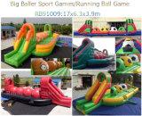Het nieuwe Spel Wipeout van het Spel Baller van Halloween van de Aankomst Opblaasbare Grote Opblaasbare met Gezichten Pumpking