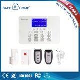 Sistema de alarma sin hilos del telclado numérico del tacto y atado con alambre elegante de la seguridad casera del G/M