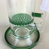 Tubos de agua verdes del tubo que fuman que fuma panal de cristal de cristal del tubo 2016 del mini con el Banger del tazón de fuente o del cuarzo