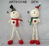 Pupazzo di neve della decorazione di natale con Legs-2asst Bendable