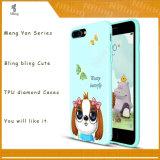 Cubierta suave del teléfono celular del nuevo diamante lindo TPU de la impresión 3D para los casos del iPhone 5s para el iPhone 6s para el más del iPhone 6s para el iPhone 7 para el iPhone 7 más