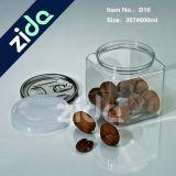 Frasco de crema de grado alimenticio Emtpy Cookie Candy Jar Forma redonda Fruta deshidratada Almacenamiento Clear Jar