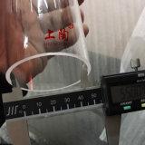 Ambos extremos abren el tubo claro del cuarzo para la resistencia da alta temperatura