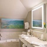 Espejo montado en la pared ligero iluminado LED del lujo del hotel LED de la estrella