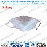 Faltbare schützende Wegwerfatemschutzmaske ohne Ventil