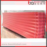 Colorear la hoja de acero galvanizada acanalada revestida del material para techos