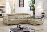 [ل] شكل مريحة يعيش غرفة جلد أريكة ([هإكس-فز029])
