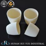 Crogiolo di ceramica dell'allumina a temperatura elevata, crogiolo di crogiolo del corindone di elevata purezza