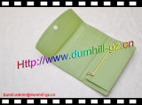 Повелительница Бумажник Зелен PU Trifold страуса способа кожаный