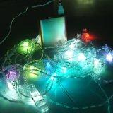 Luz aprovada da corda do grampo do Natal de RoHS do Ce para a decoração da noite do frame da foto