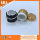 fornitore di alluminio di vetro nero del vaso di 7g 15g 30g 50g per la crema di notte